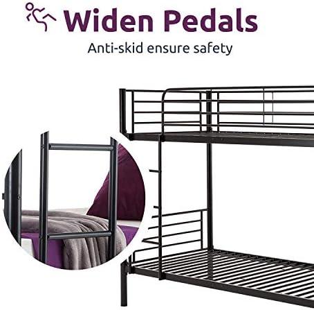 JOYBASE Metal Bunk Bed Twin Over Twin
