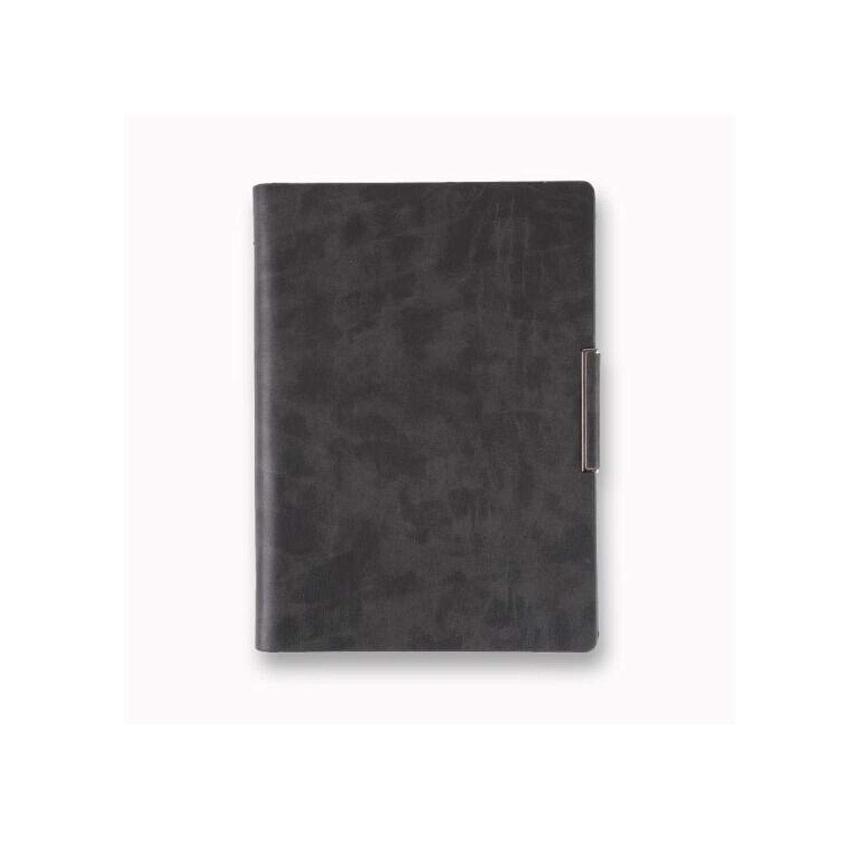 TONGBOSHI Office High-end Notebook Advanced Business Notebook, Imitation Leather Retro Pendant Loose-Leaf Notepad Office Stationery, Black, Gray (21 27.5cm) Note Notebook (Color : Gray)