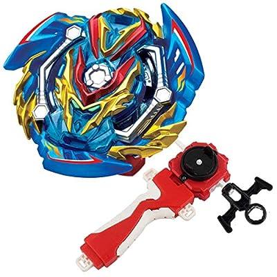 Bey Burst Evolution Turbo Battling Tops Blade God Bey & Lr Launcher Grip Spryzen Starter Set B-134 GT Booster Slash Valkyrie.Bl.Pw Attack Gyro Bay Battle Gaming Tops Novelty Spinning Toy Gift for Boys: Toys & Games