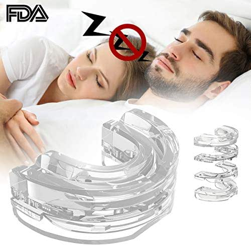 Anti Snoring Devices Mouthpiece,FMK Mouth Guard Adjustable Comfortable Reducing Restful Night Nose Health Breathing Solution for Men & Woman (Colorless)