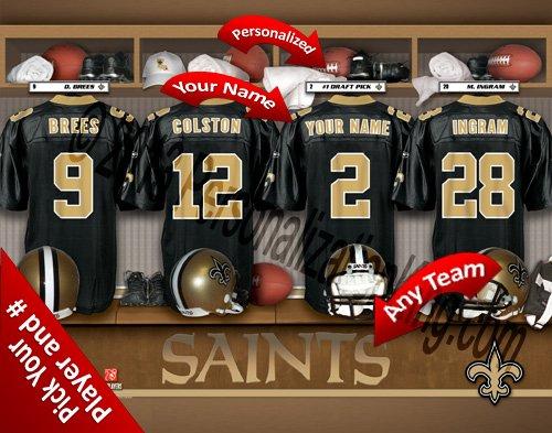 安いそれに目立つ 新しいOrleans B00KI1NLPC Saintsチームロッカー部屋Clubhouse Personlized Personlized Officially Licensed NFL写真印刷 新しいOrleans B00KI1NLPC, 未来ネットワーク:038bc0a9 --- arianechie.dominiotemporario.com