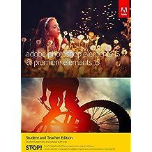 Adobe Photoshop Elements 15 and Premiere Elements 15 Student and Teacher Multi-Platform