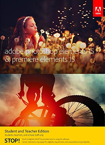 Adobe Photoshop Elements 15 & Premiere Elements 15 Student and Teacher - Validation Required