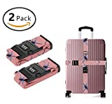 SWEET TANG Long Cross Luggage Straps Suitcase Belts Dragonfly Insect Pink