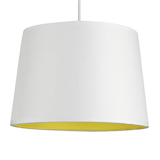 MiniSun - Modern White u0026 Yellow Tapered Ceiling Pendant Light Shade  sc 1 st  Amazon UK & MiniSun - Modern White u0026 Yellow Tapered Ceiling Pendant Light Shade ...