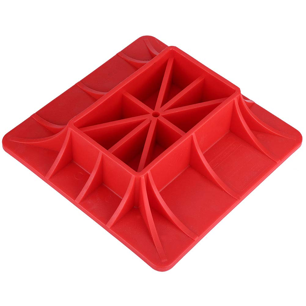 Jack Off Road Base, ABS Jack Accessories Off-Road Base Lifting Jack Surface Pad Red Color to Alleviate Jack Hoisting Sinkage