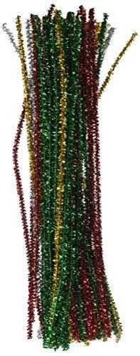 Darice Tinsel Stems 6mm 12-Inch, 60/Pkg, Christmas (250343) -