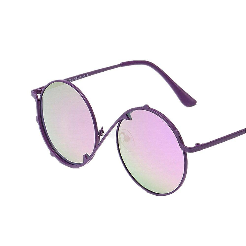 Y-WEIFENG Gafas de Sol para niños Personalidad Chicas Gafas ...