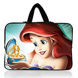 Brinchs Handmadecraft Cute Cartoon 13 13.3 Inch Laptop Handbag with Ariel From The Little Mermaid Mermaid Waterproof Canvas Fabric Laptop / Notebook / MacBook / Ultrabook Computers(Twin Sides)