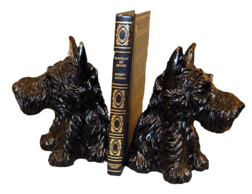 (Hickory Manor House Scottie Bookends, Black)