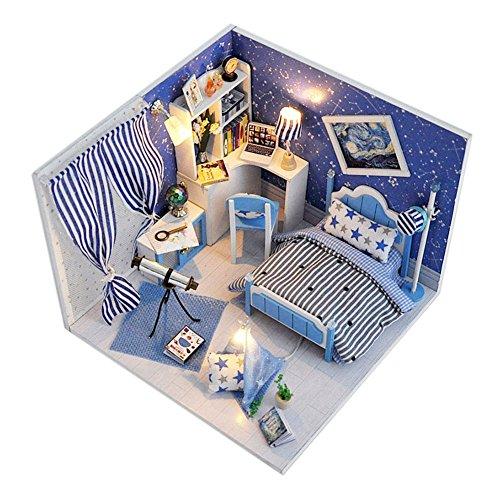 卓仕朗 ドールハウスキット 手作りキットハウス ミニチュアドールハウス ミニチュアハウス組立キット 情景模型 模型部屋 部屋モデル ハウス模型 クリスマス、誕生日、ウェディング、お祝いのプレゼント 子供の教育玩具