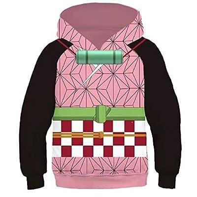 snow flying Kids Demon Slayer Kimetsu no Yaiba Kamado Tanjirou Tomioka Giyuu Hoodie Cosplay Costume Top Jacket: Clothing