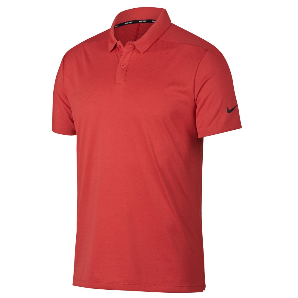 NIKE Men's Breathe Textured Golf Polo-Tropical Pink-Large by Nike