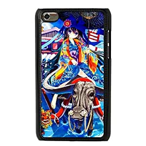 Generic for iPod Touch 4 Case Black Geisha Riding A Bull Custom MJUYMJGYT2741