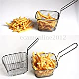 8Pcs Mini Wire French Fry Chips Baskets Net Strainer Kitchen...