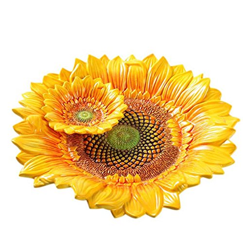 FYYDGZ Fruit Plate Sunflower Fruit Bowl Candy Bowl Creative Fruit Basket Tray Cake Tray Fruit Plate