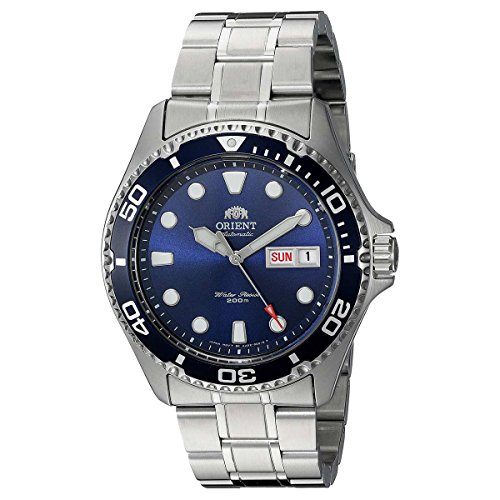 Orient Men's 'Ray II' Japanese Automatic Stainless Steel Diving Watch, Color:Silver-Toned (Model: FAA02005D9) by Orient