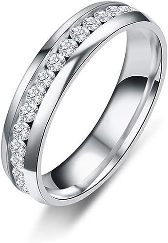 Fashion Bridal Wedding Silver Women CZ Zircon Finger Band Ring Jewelry Size 7-12
