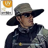 Sun Hat for Men/Women,SummerUV Protection Sun Hat Wide Brim Beach Hat Safari Boonie Hat Showerproof Foldable