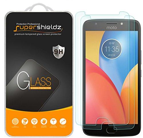 (2 Pack) Supershieldz for Motorola (Moto E4 Plus) Tempered Glass Screen Protector, 0.33mm, Anti Scratch, Bubble Free