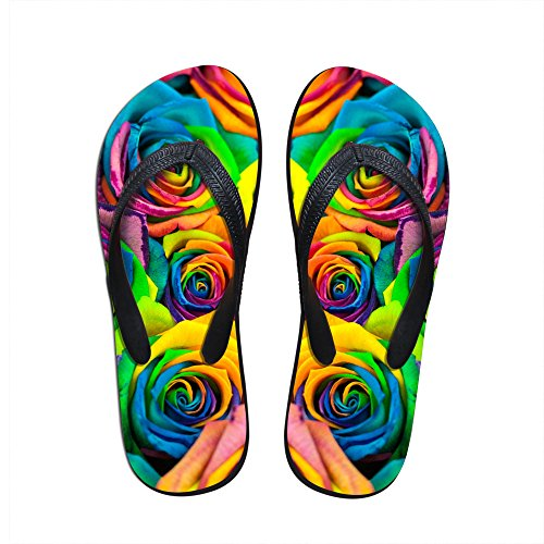 Para U Designs Colorful Floral Sandalia Slipper Comfortable Shower Beach Shoe Slip On Flip Flop Us 5