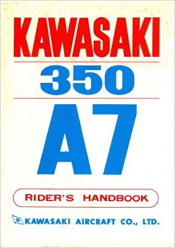 kaw-350-a7 1970-1971 kawasaki a7 avenger 350 motorcycle owners manual:  manufacturer: amazon com: books