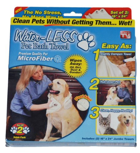 Water-LESS Pet Bath Towel – As Seen on TV, My Pet Supplies