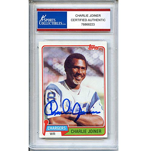 (Charlie Joiner Autographed Signed 1981 Topps Trading Card - Certified Authentic)