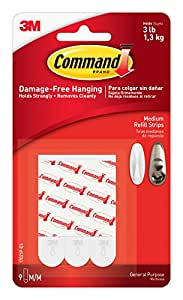 Command Refill Strips, Medium, Clear, 9-Strips (17021CLR-ES)