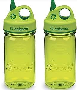 Grip-n-Gulp Kids Water Bottle Variation Parent (Spring Green, 12 Ounces)