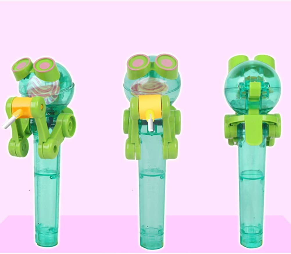 TaoNaisi 1 pcs Alimentation Creative Lollipop Robot Lollipop Support Fun Lollipop Stand Case D/écompression Jouets Gardez Bonbons pour Les Enfants Vert