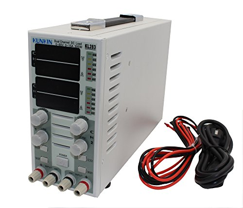 T-king(TM) KL283 2CH Dual Channel Adjustable LCD DC Electronic Load 110V 300W 80V 30A (Dc 110v Lcd)