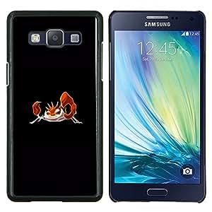 TECHCASE---Cubierta de la caja de protección para la piel dura ** Samsung Galaxy A5 ( A5000 ) 2014 Version ** --Meter monstruo naranja cangrejo