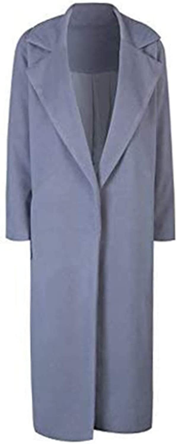 1920s Coats, Furs, Jackets and Capes History CHARLES RICHARDS CR Womens Lapel Wool Blend Longline Winter Fall Warm Coat Overcoat $47.99 AT vintagedancer.com