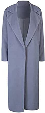 CHARLES RICHARDS CR Women's Lapel Wool Blend Longline Winter Fall Warm Coat Overcoat