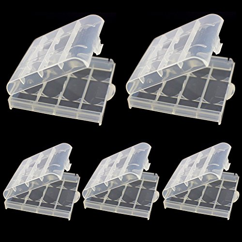 10pcs Battery Storage Case AA Safe Battery Storage Holder Rechargeable Hard Plastic