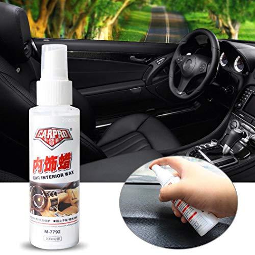 Exteren Car Interior Detailer Leather Surface Seat Polish Wax Inner Dashboard Cleaner Car Wax Kit (White)