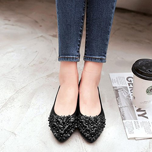 Caminar y Mujer Transpirable Cómodos con de Mocasines Ons de Slip para de Conducción Zapatos Verano Punta Zapatos Segundo Zapatos Calzado 71U6nx