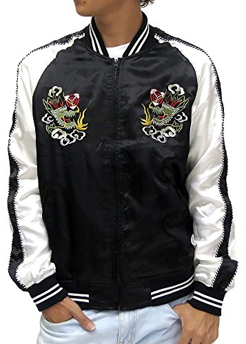 nylaus-mens-japanese-souvenir-jacket-dragon-japan-map-embroidered-sukajan-large-black