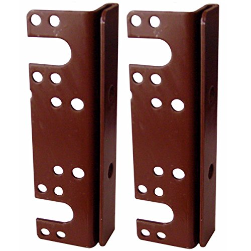 "ZaZaTool New 6"" Headboard Footboard Bed Rail Hanger Brackets for 2"" Double Hooks (2 Pack)"