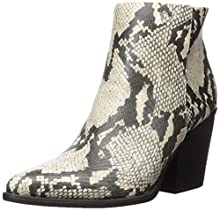 SOUL Naturalizer Women's Mikey Ankle Boot, Ivory Snake, 9.5 M US