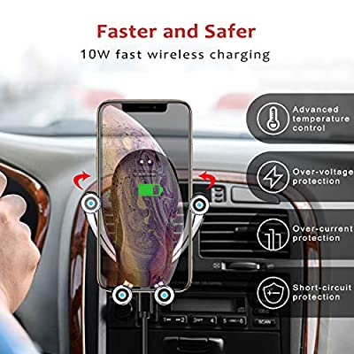 Wireless Car Charger Mount,Marchero 10W Qi Auto-Clamping Fast Charging Phone Holder Air Vent Compatible with iPhone 11 Pro Max/Xs Max/XR/Xs/8/8 Plus, Samsung Galaxy S10e/S10/S10 Plus etc: Home Audio & Theater