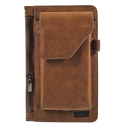 - DFV mobile - Cover Vertical Belt Case with Phone Holder Pouch & Inner Pocket with Zipper for => POSITIVO Twist MAX S540 (2018) > Brown
