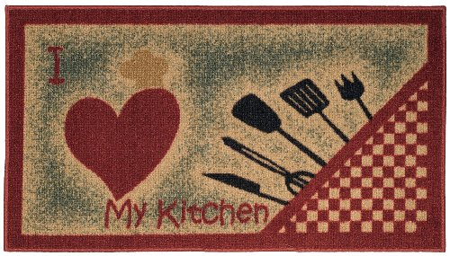 Anti-Bacterial Rubber Back Home and KITCHEN RUGS Non-Skid/Sl