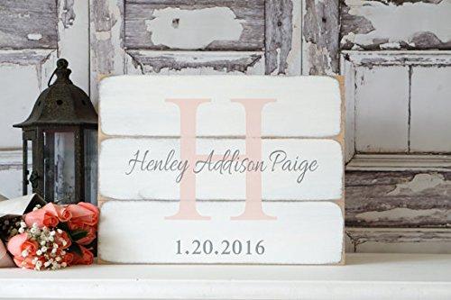 Placa de madera personalizable para nombre de boda ...