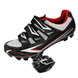 Venzo Mountain Bike Bicycle Cycling Shimano Spd Shoes + Pedals & Cleats 45 (black) | amazon.com