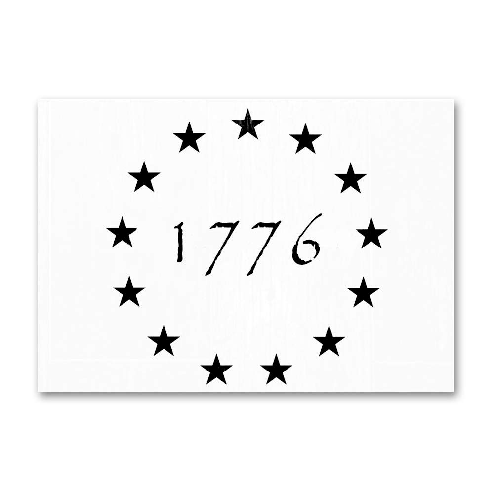 AxPower 13 Stars 1776 Painting Stencil for Painting on Wood Fabric Walls Airbrush Reusable Mylar Template (10.5x14.82 inch)