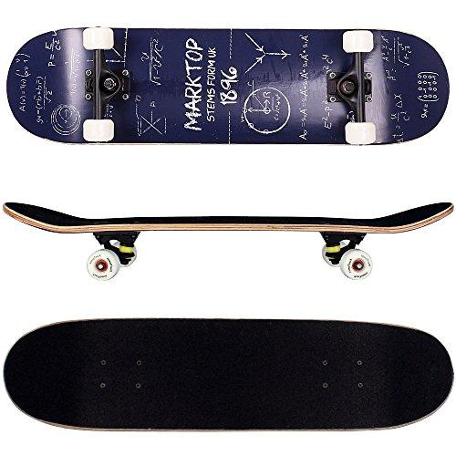 FunTomia Skateboard mit ABEC-11 Kugellager Rollenhärte 92A und 9-lagigem Ahornholz (Es stehen verschiedene Farbdesigns zur auswahl) (Mathematik)
