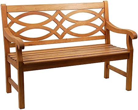 Achla Designs 4-Foot Hennell Garden Bench, Natural
