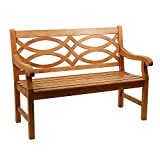 Achla Designs 4-Foot Hennell Garden Bench, Natural Review